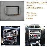 Autostereo 11-188- Carcasa de instalación para radio de coche para Alfa Romeo 147(937)2000-2010GT (937)2004en adelante. Kit de instalación de carcasa de radio de coche Alfa Romeo 147con abertura para CD