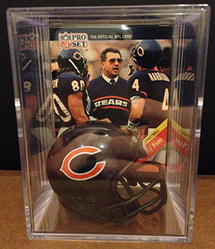Chicago Bears Throwback NFL Helmet Shadowbox w/ Mike Ditka card