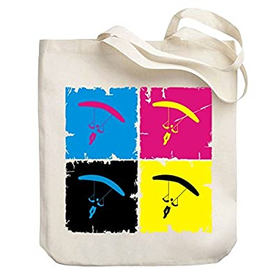 1bd6220ff9d9 Teeburon Skydiving Pop art Canvas Tote Bag low-cost ...