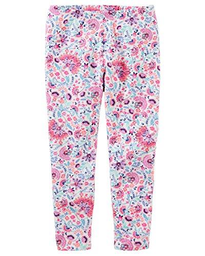 (Osh Kosh Girls' Kids Full Length Legging, Ivory Floral,)