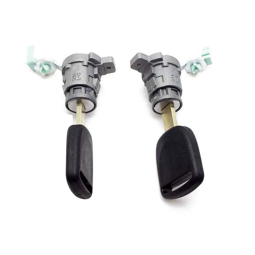 DOEU 1 set 2 pezzi serratura anteriore sinistra e destra serratura cilindro con chiavi set OEM # 72145-S73-003 72146-S73-003