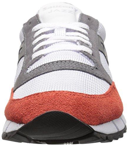 Saucony Unisex Per Adulti Jazz 91 Scarpa Da Tennis, Bianche Diversi Colori (colore Diverso (bianco / Rosso Chiaro / Verde))