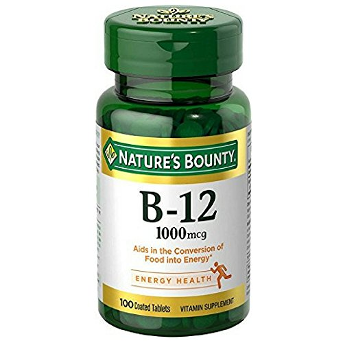 Nature's Bounty Natural Vitamin B12, 1000mcg, 100 Tablets (Pack of (Natures Bounty Natural Vitamin)