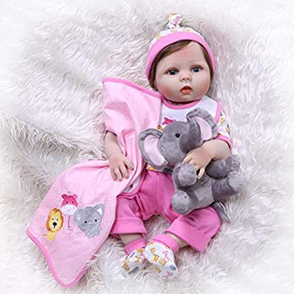 Waterproof Full Silicone Body Reborn Baby Girl Doll Durable Lifelike Cute Toy