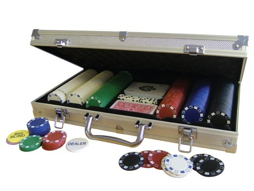 Deluxe Aluminum Case Tournament Poker 300 Chip Set (Chip 300 Aluminum Case)