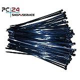 Kabelbinder 200mm schwarz 100Stck. - Premiumqualität von PC24 Shop & Service