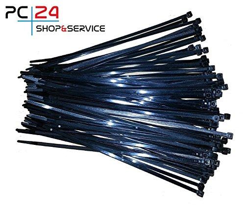 64 opinioni per Fascette per cablaggio- 100pz- Nero- 3,6 x 200 mm- PC24 Shop & Service Qualità