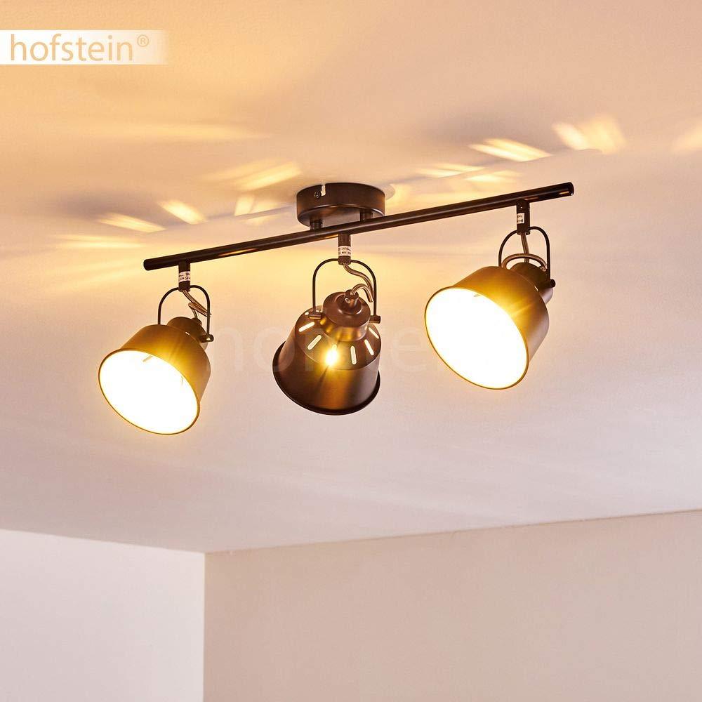 Plafonnier Safari en m/étal noir et or 4 spots de plafond pivotants pour ampoules E14 max compatible ampoules LED 40 Watt