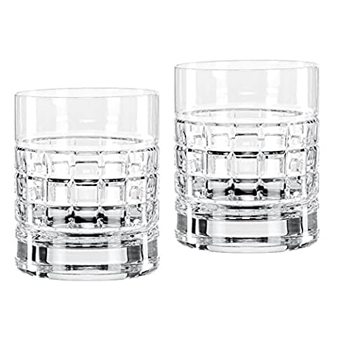 Waterford Fine Crystal London 2 Double Old Fashioned Glasses, DOF Pair - Designers Waterford Crystal