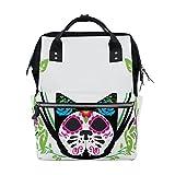 Cheap JSTEL Laptop College Bags Student Travel Sugar Skull Cat Roses School Backpack Shoulder Tote Bag