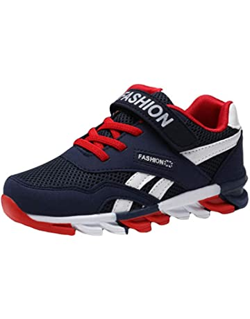 Zapatos De Tenis para Niños Unisex con Velcro Zapatos para Caminar  Ocasionales Zapatos Corrientes Ligeros Y bf70522459135