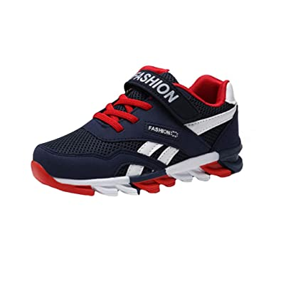 6442d6d11e861 Unisex Kids Casual Lightweight Velcro Shoes Breathable Mesh Shoes for  Walking Tennis Running Black