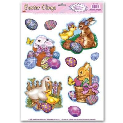 Easter Animal Window Clings (Pack of 48) by Beistle