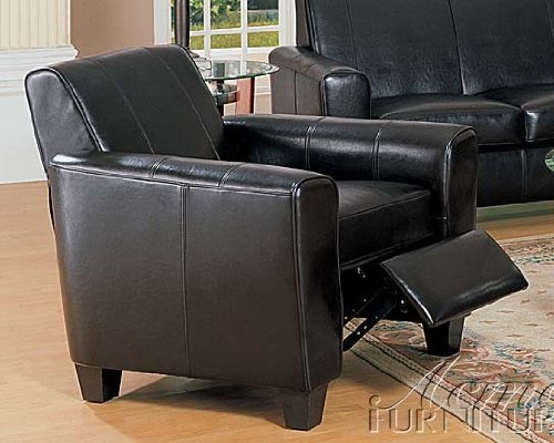 Leather Espresso Bycast (Recliner Chair with Wooden Legs Espresso Bycast Leather)