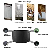 ZETOM Grow Bag, 20 Gallon Thickened Nonwoven Fabric Pots Nursery Garden Pot with Handles Heavy-duty Plant Container Grow Bag 1-Pack