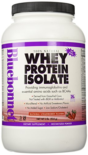BlueBonnet 100% Natural Whey Protein Isolate Powder, Strawberry, 2 Pound