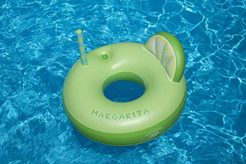 Swimline Margarita Ring Pool Inflatable Ride-On, Green -
