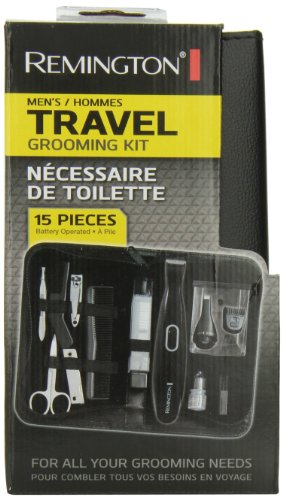 Price comparison product image Remington TLG-100ACDN 15-Piece Travel Grooming Kit, Black