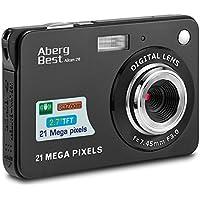 "AbergBest 21 Mega Pixels 2.7"" LCD Rechargeable HD Digital Video Students Cameras-Indoor Outdoor for Adult/Seniors/Kids, Black"