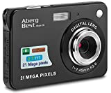 Aberg Best 21 Mega Pixels 2.7' LCD Rechargeable HD Digital Camera,Video camera Digital Students cameras,Indoor Outdoor for Adult /Seniors / Kids (Black)
