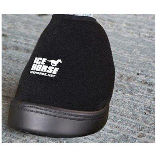 IceHorse Groß Schwarz BOOT - Einem einfachen lösung für glasur Hot Hufen auf pferd oder pony - VERKAUFT ALS EINEM EINZELNEN BOOT WITH 3 EIS-EINSÄTZE