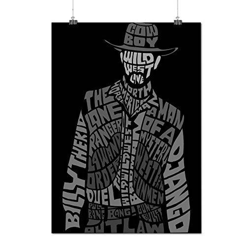 Wild West Cowboy Outlaw Gun Matte/Glossy Poster A3 (12x17 inches) | Wellcoda - Wild West Costumes Plus Size