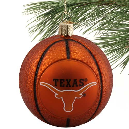 Texas Longhorns Ornaments - NCAA Texas Longhorns Glass Basketball Ornament