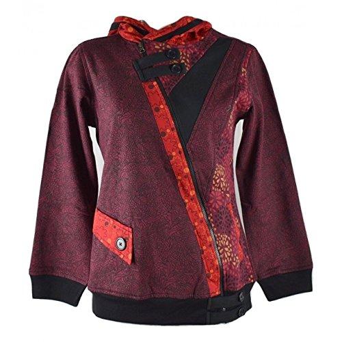 Bajura de Bordeaux Ethnique Boutik Femme Bordeaux La Sweater Satyam qax7Y