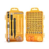 Professional Communication Tools 60 in 1 Precision Screwdriver Tool Kit, Compact Repair Maintenance Kit for Cell Phone, Laptop, Tablet, and Home Appliance Repair(Yellow)