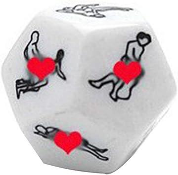 Funny Sex Dice 12 Lados Erotic Crap Sex Shine Dice Love Dice Juguetes para Adultos Juguetes sexuales Noctilucent Couples Dice Game (Blanco) ESjasnyfall: Amazon.es: Juguetes y juegos