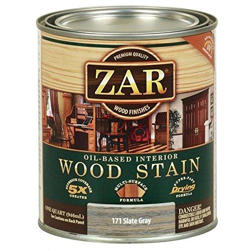 (ZAR Oil-Based Wood Stain, 171 Slate Gray, Quart)