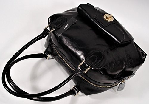 Satchel Calf Bag Turnlock Handag Logo Polish DKNY waEIx0qn