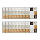 kitchen back splashes YTLS 3D Self Peel and Stick Back-Splash Tiles, Mosaic 3.9 x 3.9 in for Bathrooms and Kitchens, Wall Tile Square Sheets, Neutral Colors, 18pcs
