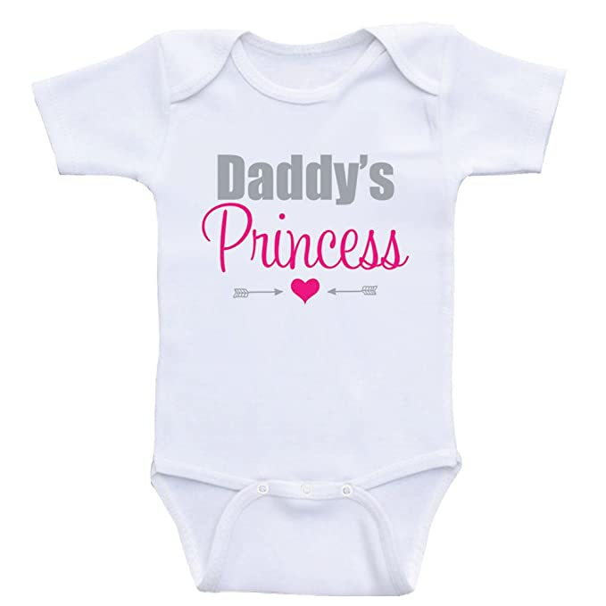 66e9d256e Heart Co Designs Baby Girl Clothes Daddy's Princess Sweet Onesies for Baby  Girls (3mo-
