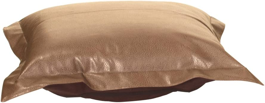 Howard Elliott Puff Ottoman Cushion With Cover, Avanti Bronze