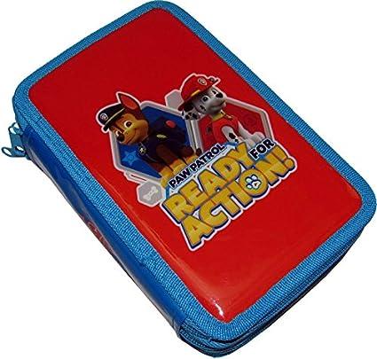 Patrulla Canina - Estuche escolar, 3 cremalleras, original de Patrulla Canina, incluye 43 artículos escolares: Amazon.es: Juguetes y juegos