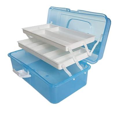 Caja de Esmalte de Uñas , Caja de Make-up con 3 Compartimentos de Capa, Plástico Caja de Belleza Vanity Cases Organizadores de Cosméticos ,Aleatorio ...