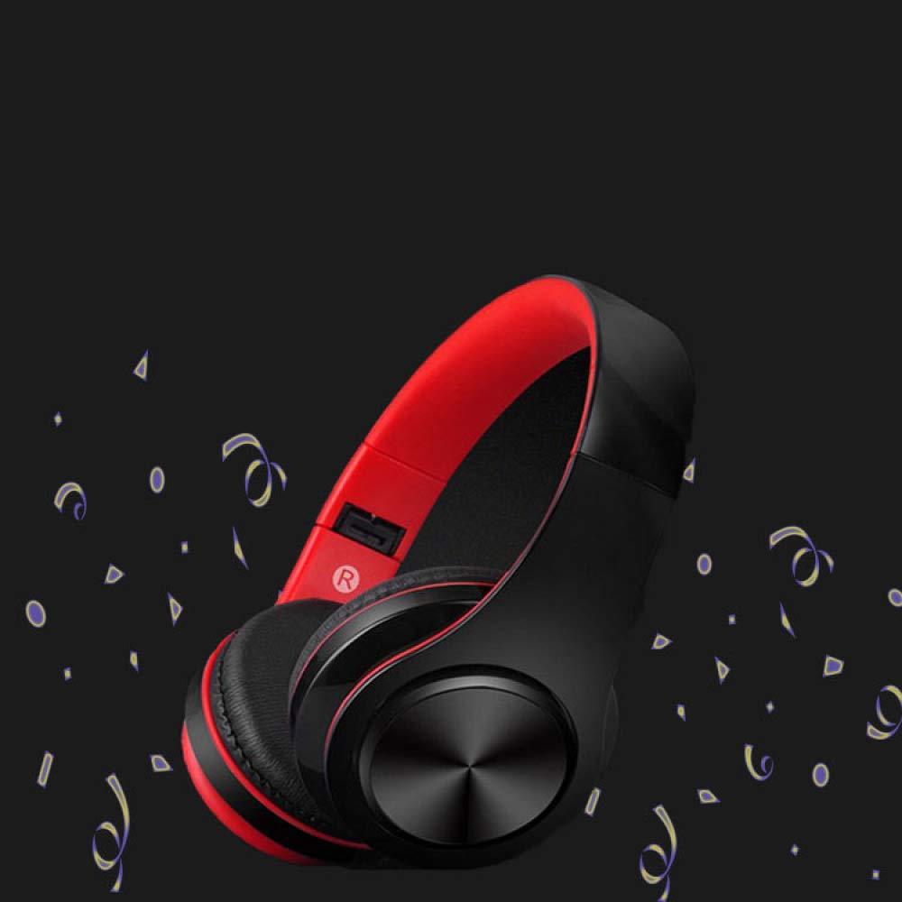 WLG HJJDHJ Headset Blautooth-Headset, Drahtlose Sport-Stereoanlage, Klappkarte Subwoofer