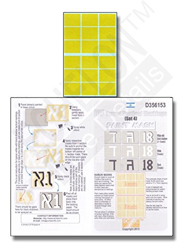 Echelon Fine Decal 1:35 IDF Turret Tactical Markings Set 4 Masks - Turret Markings