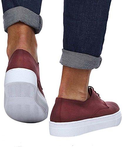 los Casuales Burdeos Ocio NELSON del Hombres Invierno Elegantes Zapatos LEIF de del Zapatos Verano Hombres del Zapatos H6qpSwSB