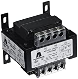 Hubbell Acme Electric AE060100 AE Industrial Control Transformer, 1 Phase, 0.1 kVA, 50/60 Hz, 240 x 480, 230 x 460, 220 x 440 Primary Volts, Group VI, Steel, Black
