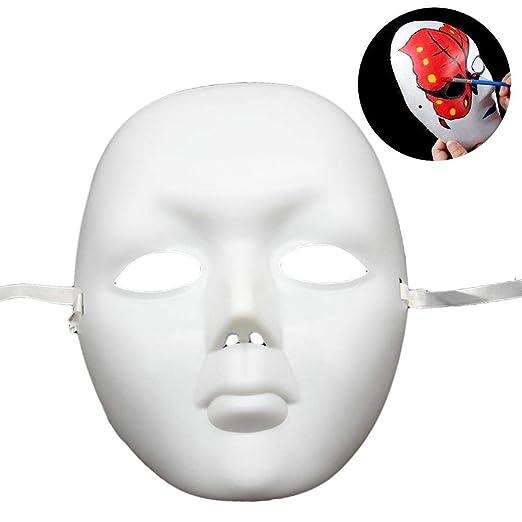 chivalrylist Máscara Blanca, 12PCS DIY Máscara Blanca para Pintar ...