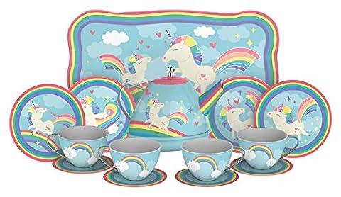 Schylling Unicorn Tin Tea Set - Tea Hostess Set