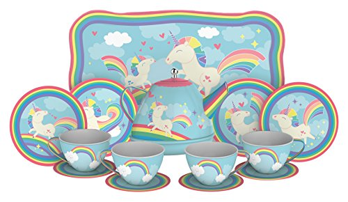 Schylling Unicorn Tin Tea Set (Whimsical Tea Sets)