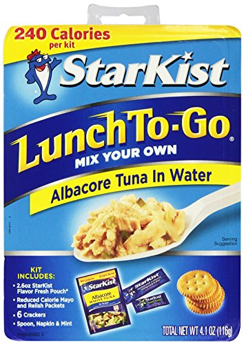 Starkist Lunch To-Go Albacore Tuna in Water 4.1 Oz (Pack of 6) (Starkist Albacore)