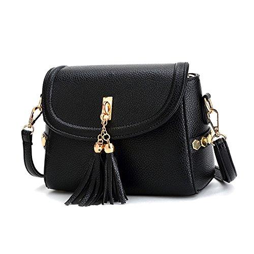 Zantec Damenmode Metall Anhänger Clutch Bag Hochzeit Handtasche schwarz OIerfox3Ea