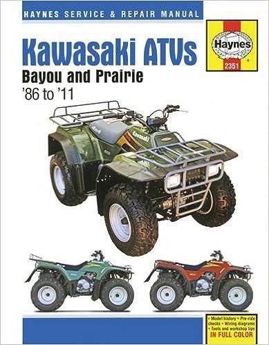 Kawasaki ATVs Bayou and Prairie: 86' - '11 (Haynes Service & Repair Manual)