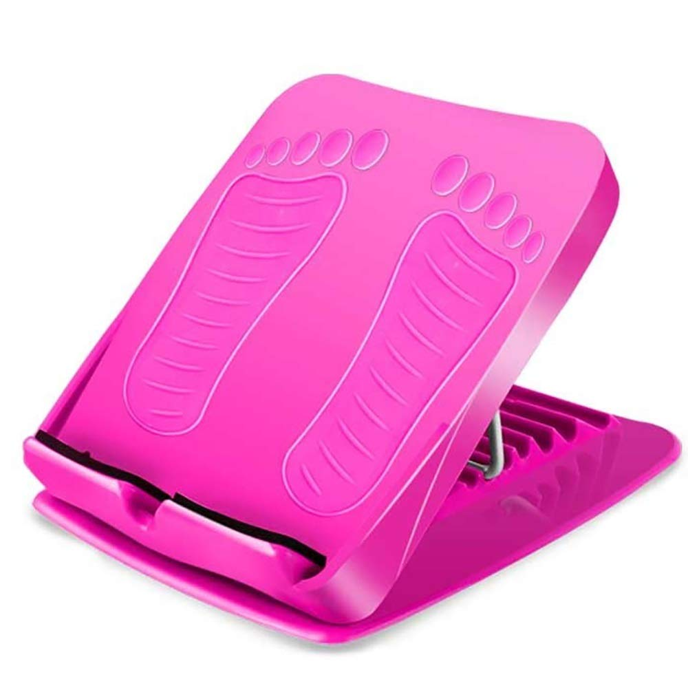 Zhao Li Pulling Plate Inclined Pedal Folding Bar Stool Home Fitness Calf Stretcher (Color : Pink, Size : Five Files)