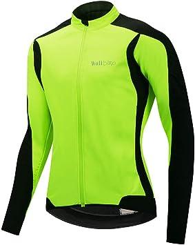 Wulibiek Chaqueta Ciclismo Hombre Invierno Softshell Jersey ...