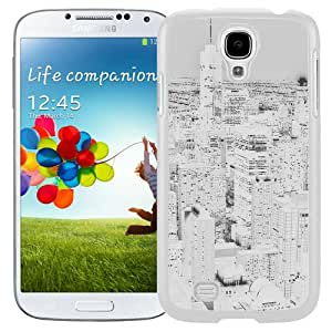 Unique Designed Cover Case For Samsung Galaxy S4 I9500 i337 M919 i545 r970 l720 With Ml City View Night White (2) Phone Case